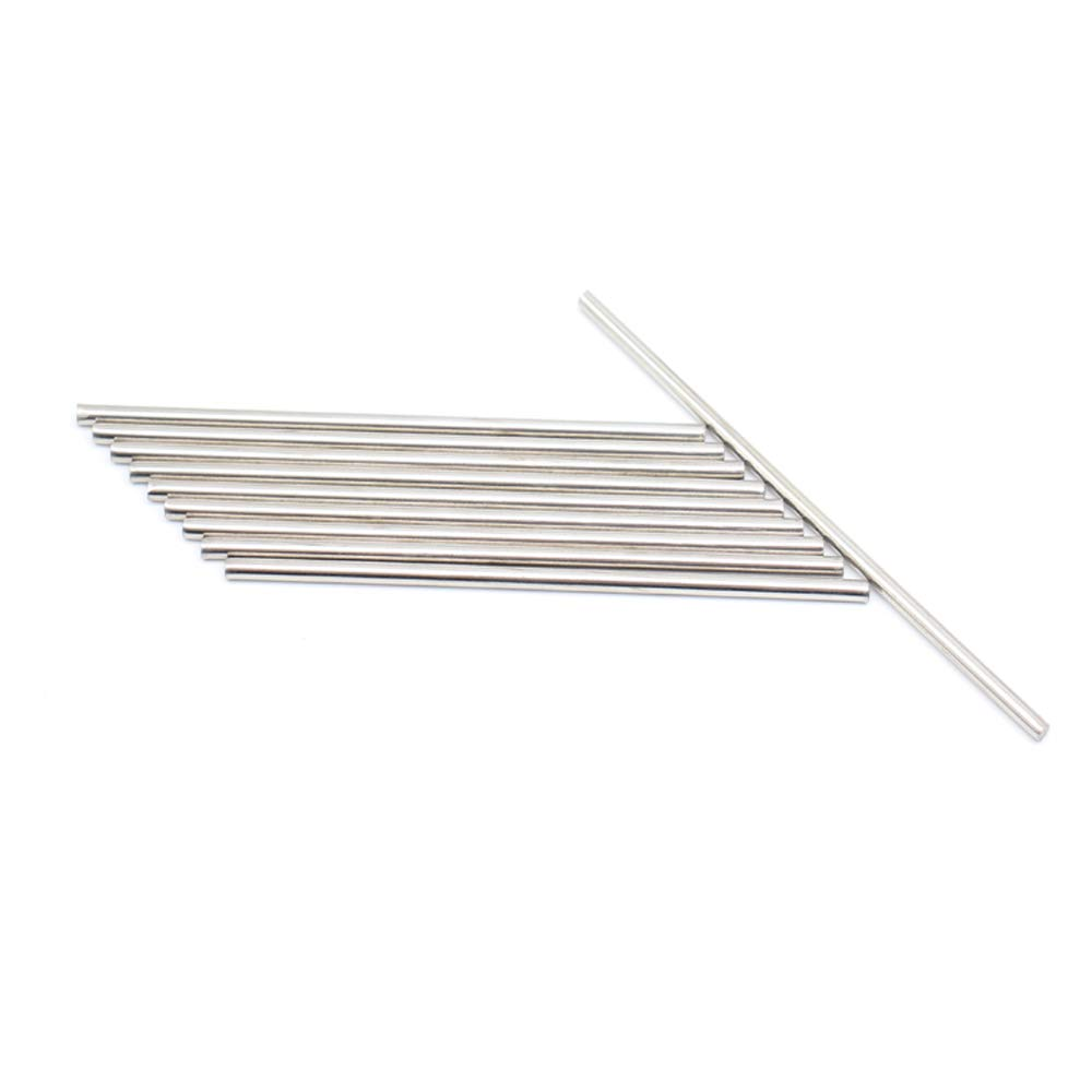 CCTVMTST 20Pcs Stainless Steel 2mm x 150mm Round Shaft Rod Bars for DIY RC He...