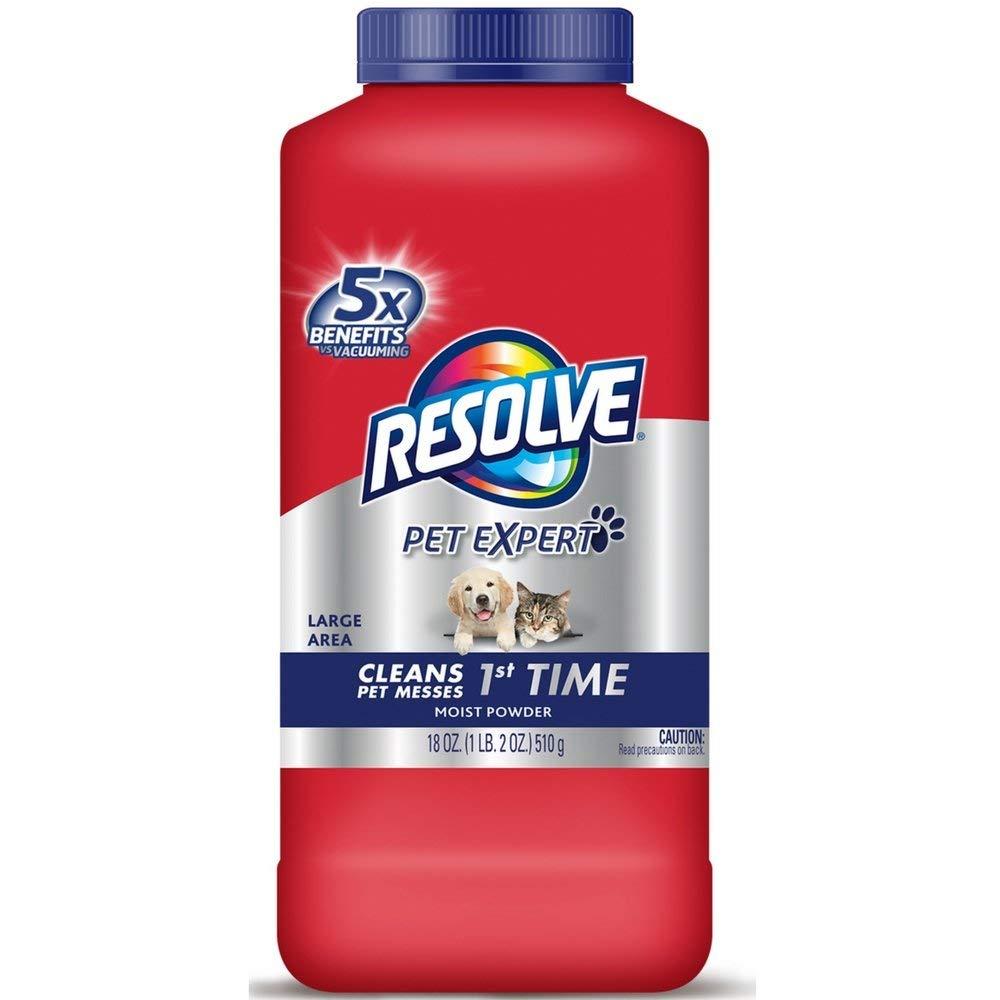 Resolve Pet Carpet Cleaner Powder, 18 oz Bottle, for Dirt Stain & Odor Removal (4 Pack)