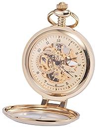 KS KSP062 Men's Half Hunter Hand Wind Mechanical Pocket Watch