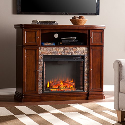 Cheap Southern Enterprises Hillcrest Electric Media Fireplace Espresso Black Friday & Cyber Monday 2019
