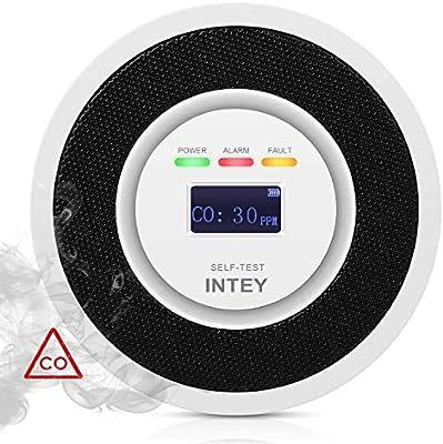 INTEY Detector de Monoxido Carbono Señal electroquímica Sensor de CO Alta Sensibilidad y Fuerte Antiinterferencia, Funcionamiento con Batería ...