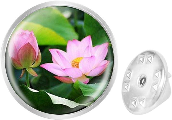 Custom Lapel Pin Brooches Pink Lotus Art Banquet Badge Pins Trendy Accessory Jacket T-Shirt Bag Hat Shoe