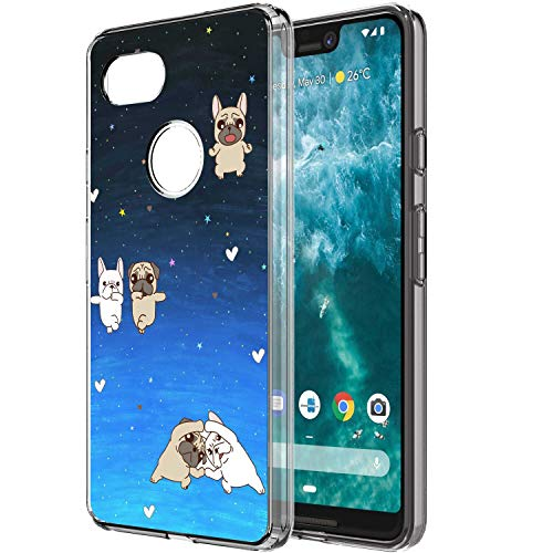 Cartoon Pugs UV Printing Soft Slim Case Cover Fits for Google Pixel 3 XL [6.3inch]