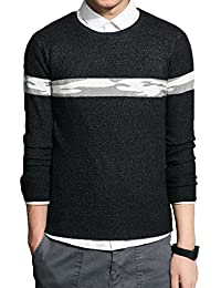 "<span class=""a-offscreen"">[Sponsored]</span>Men's Casual Fashion Pullover Sweater Lightweight Thin Fabric Sweaters Stripe Patterned"