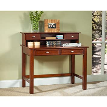 Home Styles 5532-162 Hanover Student Desk and Hutch - Cherry Finish