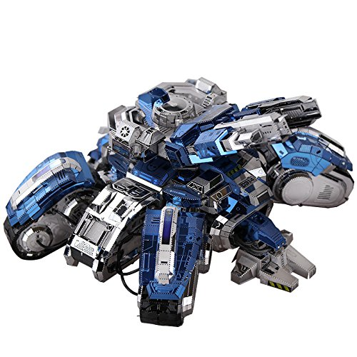 - MU 3D Metal Puzzle Siege Edition Tank Model YM-N025-D DIY 3D Laser Cut Assemble Jigsaw Toys