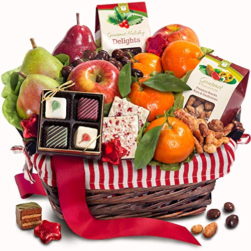(Golden State Fruit Rustic Treasures Holiday Christmas Gift Basket)