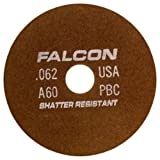 Falcon A60PBC Resinoid Bonded Shatter Resistant Tool Room Reinforced Abrasive Cut-off Wheel, Type 1, Aluminum Oxide, 1-1/4'' Hub, 8'' Diameter x 0.062'' Thickness, 60 Grit (Pack of 1)