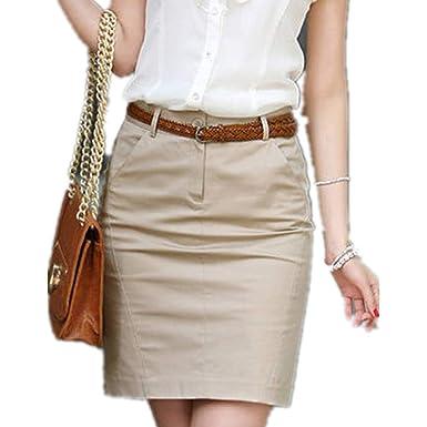 hibote Falda Mujer Short Suave Cómodo Verano Cintura Alta Falda de ...