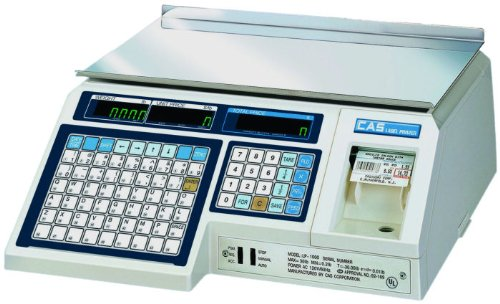 (CAS LP-1000N Label Printing Scale Legal for Trade , 30 x 0.01 lb with a FREE 1 case CAS LST-8000 Non UPC Label, 58 x 30 mm )