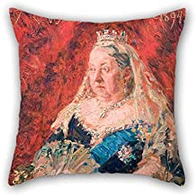 18 X 18 Inches / 45 By 45 Cm Oil Painting Laurits Tuxen - Portrait Of Queen Victoria Throw Cushion Covers 2 Sides Is Fit For Bar Seat Bf Lover Boy Friend Lounge Relatives