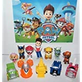 jinnuo star® PAW Patrol Deluxe Mini Figure Toy Play Set with Ryder, Marshall, Chase, Skye, Zuma, 5 Pup House Vehicles and More!