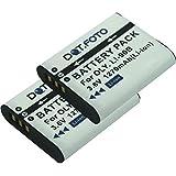 2x Dot.Foto Qualitätsakku für Olympus LI-90B,LI-92B - 3,6v / 1270mAh - Garantie 2 Jahre [Siehe Beschreibung für die Kompatibilität]