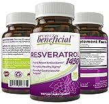 RESVERATROL 1450 - 90DAY SUPPLY-1450MG of Potent Antioxidants & Trans-Resveratrol, Promotes Anti-Aging, Cardiovascular Support, Maximum Benefits
