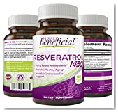 RESVERATROL 1450 - 90 Day Supply, Potent Antioxidants, Promotes Anti-Aging, Cardiovascular Support, Maximum Benefits