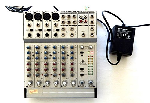 USED Behringer Eurorack MX 802A Compact Mixer and Plower Supply - Behringer 2003 - Tested by the SELLER and worked perfectly! - No Warranty or Manual - Download Manual - Usps And Track Ship