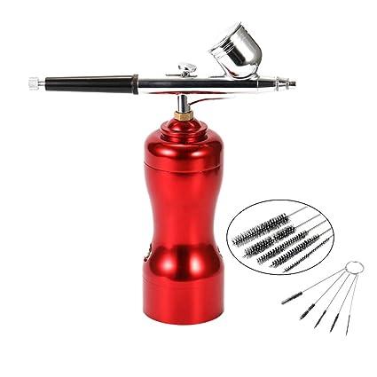 Aibecy Ligero Tamaño Mini Portátil Hermoso Conjunto de aerógrafo Pequeño Spray Bomba Conjunto de lápiz Compresor