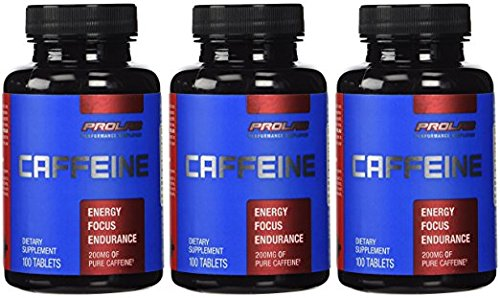 Caffeine Pills 100 tablets 200mg by ProLab (3 Bottles)