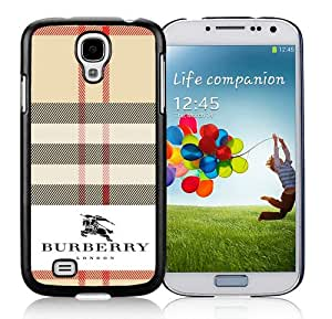 Galaxy S4 Case,Burberry 38 Black Samsung Galaxy S4 I9500 Screen Phone Case Grace and Beautiful Design