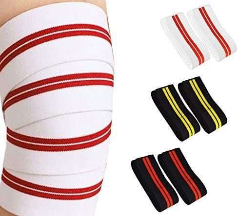 Prime knee Supports Wraps Weight Lifting Body Building approx 79 Long 3 Wide Elasticated Strap Gym Training Workout