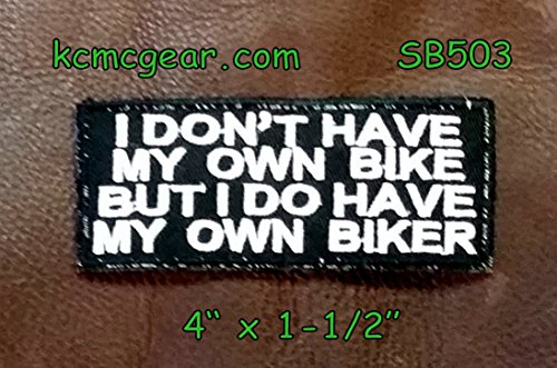 (I Don't Have My Own Bike Small Badge Patch for Vest jacket SB503)