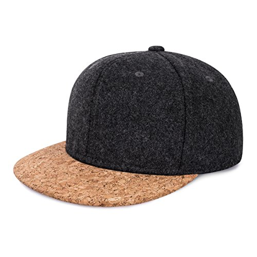 CHOSUR Hit Color Hip Hop Hat Men Cotton Baseball Caps B-Boy Hiphop Caps Adjustable Snapback Hat Trendy Breaking Hiphop Caps (Dark Grey)