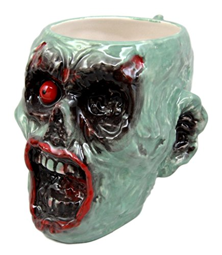 Atlantic Collectibles Walking Dead Infected Zombie Grotesque Face Coffee Cup Drink Ceramic Mug 10oz