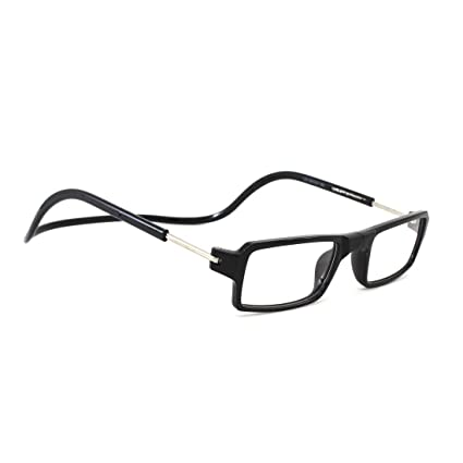 71b3697967 Double Battery Detachable Reading Glasses with Magnet Rectangular Full  Frame for Men   Women (Black)  Amazon.in  Health   Personal Care