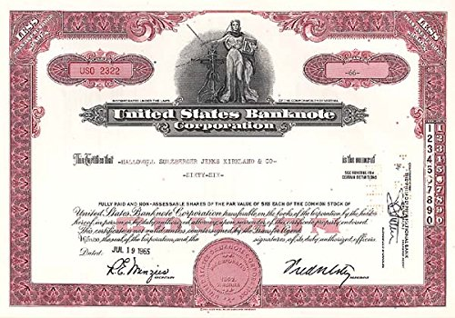 (United States Banknote Corporation)