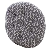 MEMORECOOL LIGHT UP YOUR HOME Modern Simple Round Floor Cushion, Futon Round Seat Cushion Window Pad Chair Cushion Sofa Pillow 23 Inch, Grey Arrows Set of 2