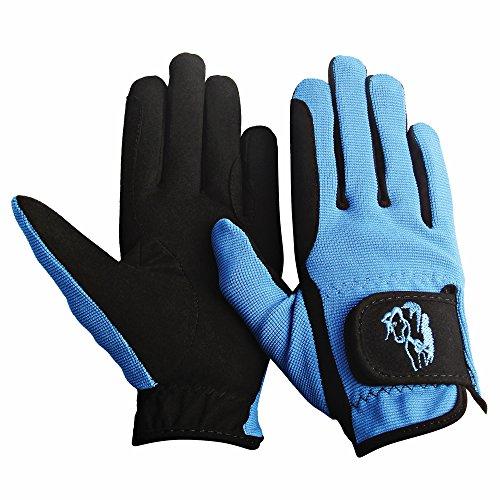 TuffRider Children's Performance Gloves (Sky Blue, S)