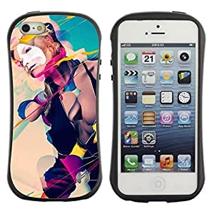 High quality Case for Apple iPhone 5 5S / Cool Abstract Art Composition Girl Kimberly Kurzendoerfer