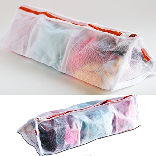 brightmaison 3 Sectional Delicates Set of 2 Laundry Wash Bags, Premium Quality: Lingerie Bags for Laundry, Garment, Blouse, Hosiery, Stocking, Underwear, Bra & Lingerie and for More Washing Bag Set