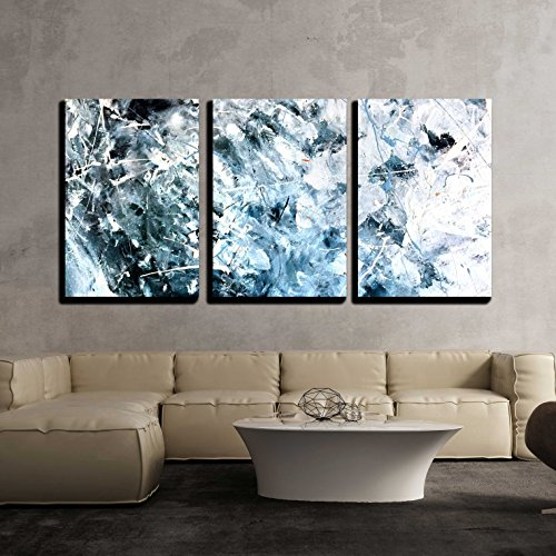 wall26 - 3 Piece Canvas Wall Art - Abstract Acrylic Painted Texture Background - Modern Home Decor Stretched and Framed Ready to Hang - 24