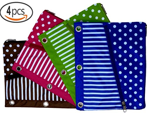 3 Pocket Pencil Case For Girls