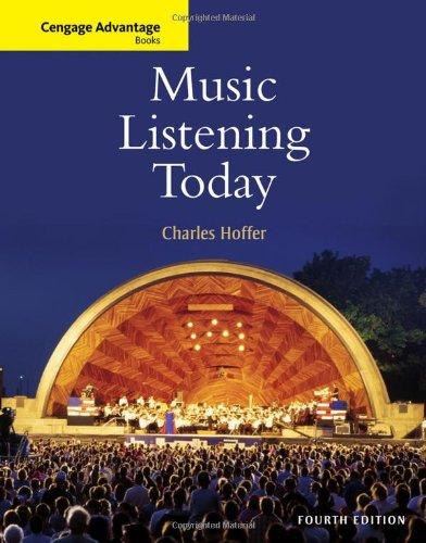 Music Listening Today (Cengage Advantage (Advantage Music)