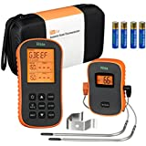 riida TM08 Wireless Meat Thermometer, Remote Cooking Food Barbecue Digital Grill Thermometer with Dual Probes for Oven Smoker Grill BBQ Thermometer Kitchen Tools(300 Feet)