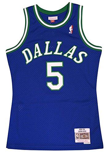 Mitchell & Ness Dallas Mavericks Jason Kidd Swingman Jersey NBA Throwback Blue (Medium)