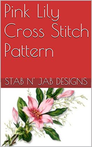 Lilies Needlepoint - Pink Lily Cross Stitch Pattern