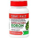 Vibrant Health - Super Natural Boron, A Boron Supplement with Patented Calcium Fructoborate Specialized for Calcium Retention, 60 count (FFP)