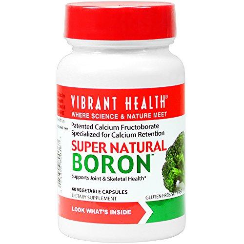 Santé vibrant - bore naturel Super - aide à maximiser les hormones d'absorption et l'équilibre de calcium, 60 Comte (FFP)