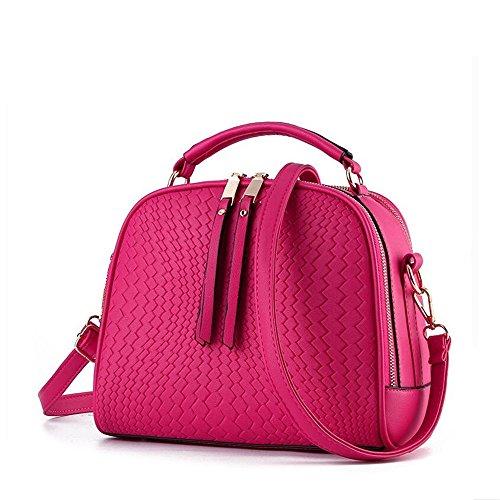 Cordones Bolsos Red Solapa Mujer Mujer De Meaeo Asas Superiores Purple Bolsos Bolsos Con Con Mujer Con Con Asas Bolsos q4qwvUBI
