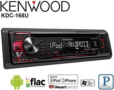 Volunteer Audio Kenwood KDC-168U カーステレオ ダブルディンラジオ CDプレーヤー付き AUX/USB