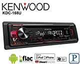 Volunteer Audio Kenwood KDC-168U Car Stereo Double Din Radio with CD Player, AUX/USB