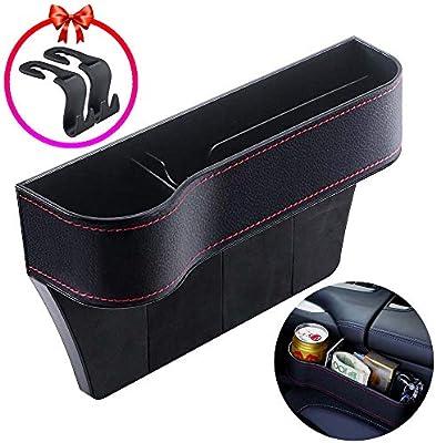 Passenger Multifunctional Car Seat Gap Filler PU Leather Seat Console Side Pockets Storage for Cup Holder//Cellphones//Keys//Cards//Wallets//Sunglasses Zeyaa Upgrade Car Seat Gap Storage Organizer