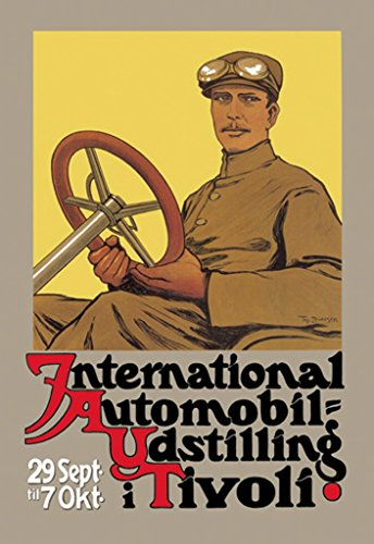 ArtParisienne International Automobil-Udstilling i Tivoli Thomas Iversen 24x36-inch Paper Giclée Print