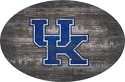 Fan Creations University of Kentucky 46 inch Distressed Wood Oval, Multi