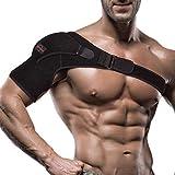 Shoulder Brace for Women and Men - Left or Right Shoulder Support Brace for Rotator Cuff AC Joint Dislocated Shoulder - Adjustable Neoprene Compression Shoulder Sleeve