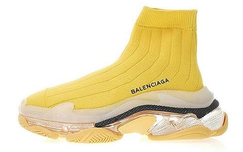 Balenciaga Triple S Air Knit Mid Sock Yellow Balenciaga Mujer Hombre Zapatillas: Amazon.es: Zapatos y complementos