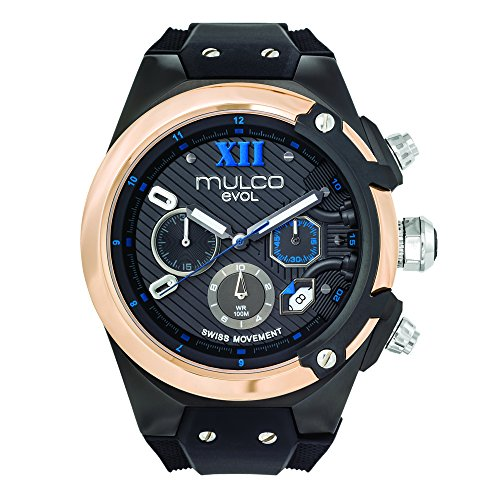 Mulco MW3-14021-023 Evol Collection Black Band Watch